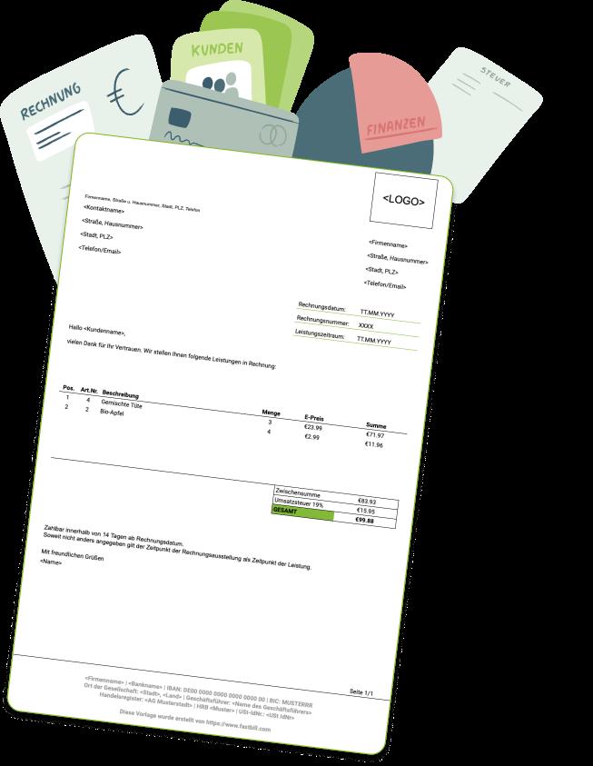 Rechnung Schreiben Mit Rechnungsvorlage Fastbill